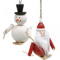 Julgransdekorationer jultomte och snögubbe 11cm 2st