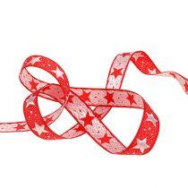 Julband med stjärnor röd 15mm 20m