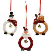 Julfigurer 8cm - 10cm för att hänga 3st