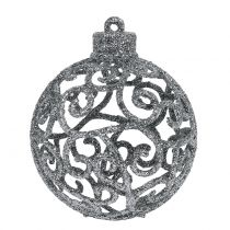 Julkula silver Ø6cm 16st