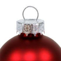 Julbollglas Ø6cm röd mix 24st