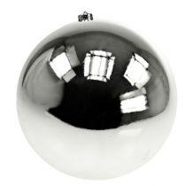 Julkula plast stort silver Ø25cm