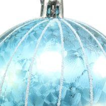 Julkula plast blå-turkos Ø8cm 2st