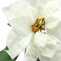 Julstjärna konstgjord blomma vit 67cm
