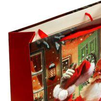 Presentpåse med jultomten 24 cm x 18 cm x 8 cm