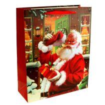 Julväska med jultomten 32cm x26cm x10cm