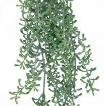 Grön växthängande konstgjord hängande växt med knoppar grön, vit 100cm