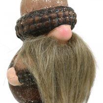 Gnome keramiska kottar och ekollon dekorationsplugg 8 / 8,5 cm 4st