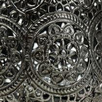 Vindljus silver Ø12cm H13cm 1p