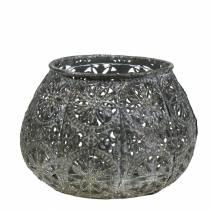 Lantern Orient Antik Silver Ø13cm H9.5cm