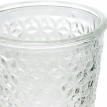 Lyktglas med basklart Ø10cm H18,5cm bordsdekoration
