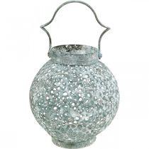Metallvindljus, lykta, ljusstake antikt utseende Ø15cm H22cm