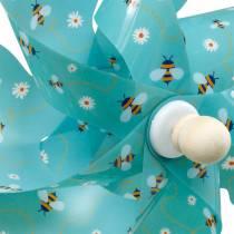Pinwheel bin turkos Ø31cm wind chimes väderkvarn trädgård dekoration