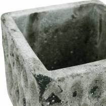Växtkruka, keramikbehållare, bordsdekoration antik optik H8cm 4st