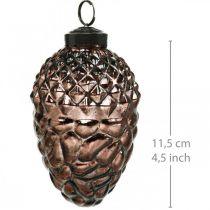 Kottar att hänga, trädekorationer, äkta glas, höstdekorationer, antik optik Ø7cm H11,5cm 6st
