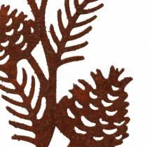 Trädgårdsstiftkottegren rostfritt stål H40 cm 4st