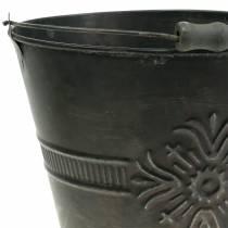 Dekorativ hink antik zink Ø22cm H19cm