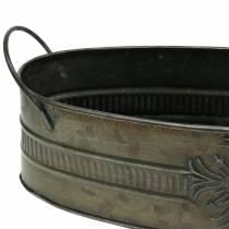 Dekorativ skål antik oval zink 33,5 cm / 29,5 cm 2 st
