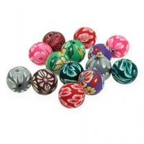 Dekorativa pärlemor blandade färger 1,9 cm 60p