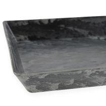 Dekorativ bricka antracit 27 cm x 12 cm