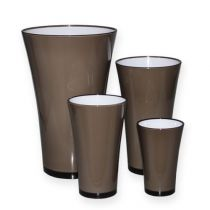 """Vase """"Fizzy"""" platingrå Ø13,5 cm till ca Ø28,5 cm, 1 st"""