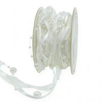 Bröllopsband vit 20mm 5m
