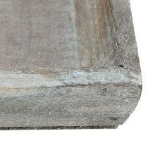 Träskål ljusgrå 35cm x 11 cm