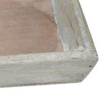 Träbricka grå 57 cm x 17 cm