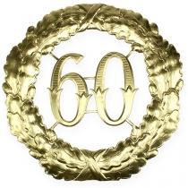 Jubileum nummer 60 i guld Ø40cm