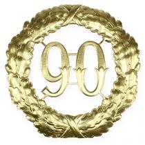 Jubileum nummer 90 i guld Ø40cm