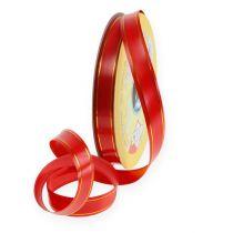 Presentband 2 guldremsor på röd 19mm 100m