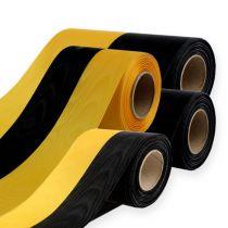 Kransband moiré gul-svart