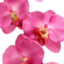 Konstgjord orkidé med lövrosa 68cm