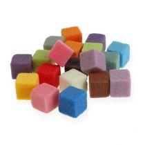 Våt blommig skum mini-kub färgad 300st