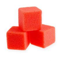 Våtskum mini-kub röd 300p
