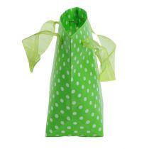 Bärväska grön, vit 31 cm 5st