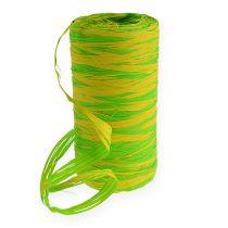 Raffia tejp bicolor gröngul 200m