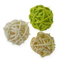 Rottingboll ljusgrön, blekgrön, blekt 72st