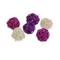 Lilac rottingboll, blekt 72st