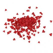 Strö dekoration hjärtan röd 5-8mm 1000p