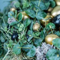 Vakteläggdekoration svart tom 3cm vårdekoration naturlig dekor 50p