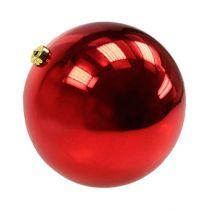 Julboll medelstor plaströd 20cm