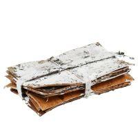 Barkskivor 20 cm x 12 cm vit, tvättade 8st