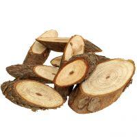 Träskivor ovala naturliga 500 g