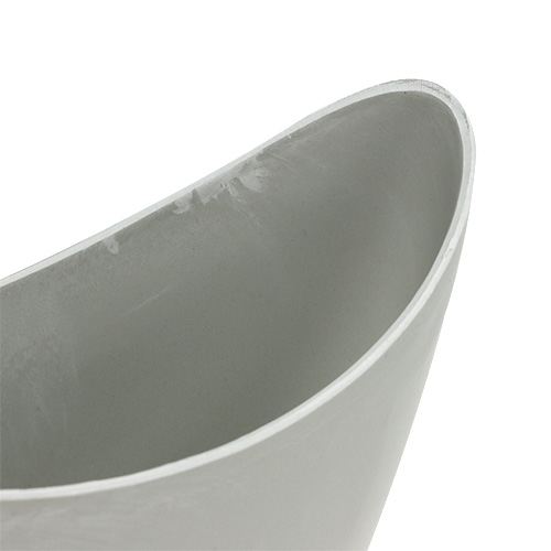 Dekorativ skål plastgrå 20 cm x 9 cm H11,5 cm, 1 st