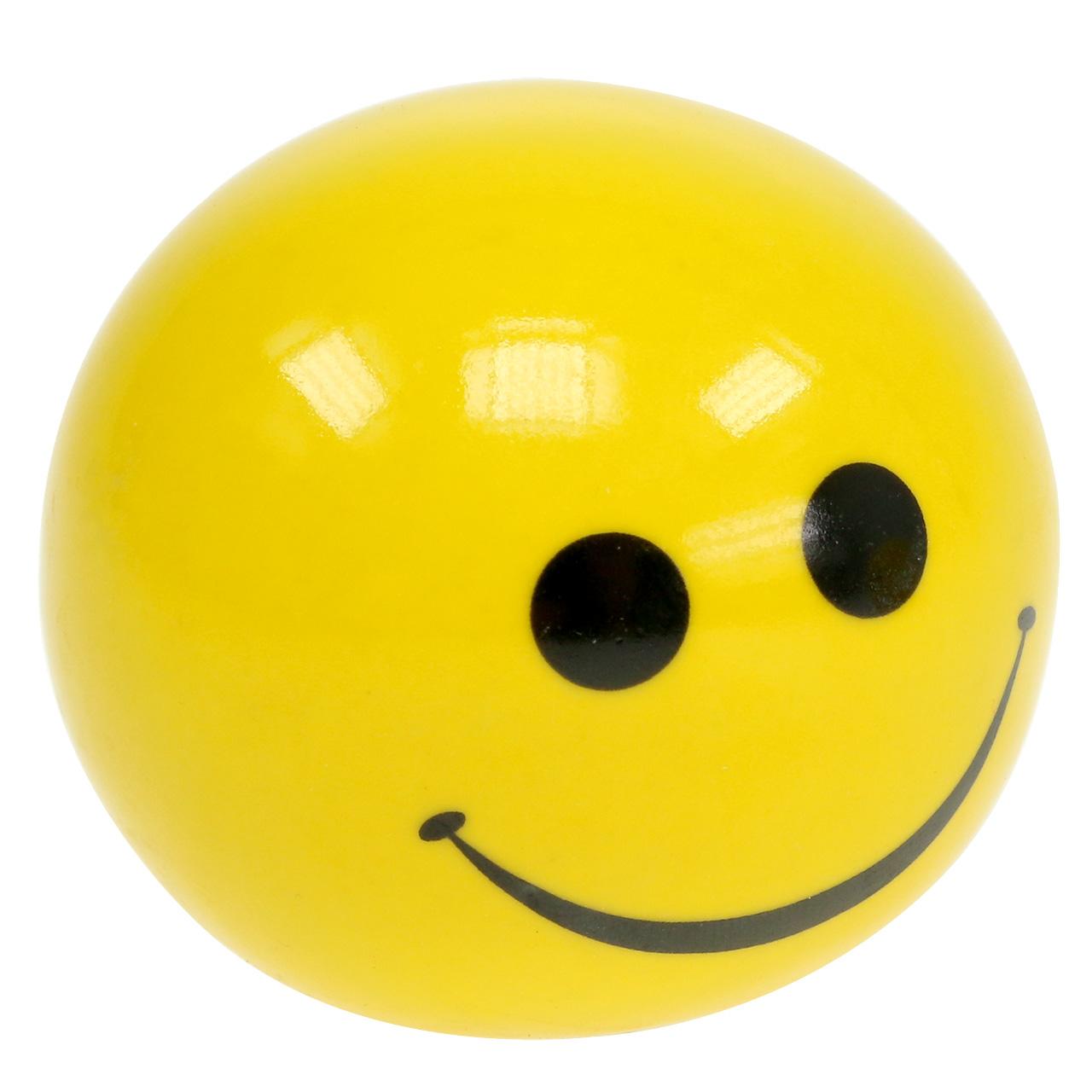 Keramisk kula med Smeili gul Ø5cm H4,5cm 6st