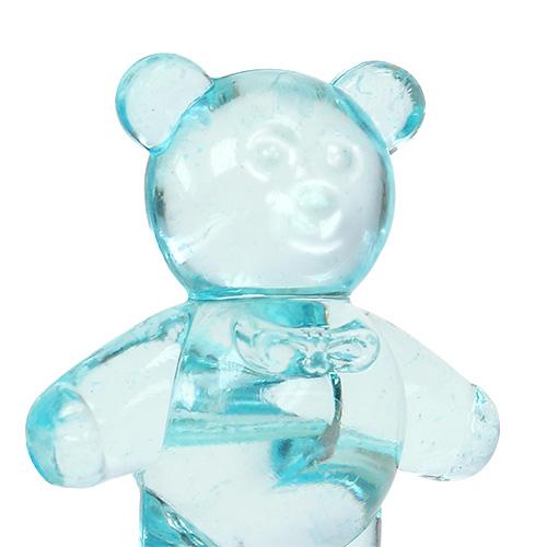 Bordsdekoration för födelsebjörnen blå 3,5 cm 60 st