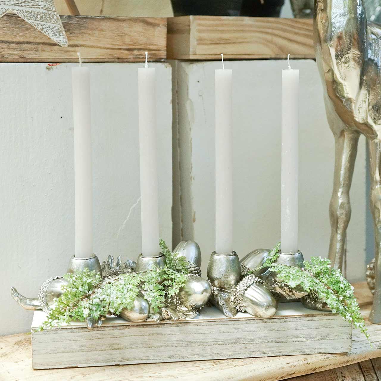 Julstake ljusstake för 4 ljus ekollon 44cm