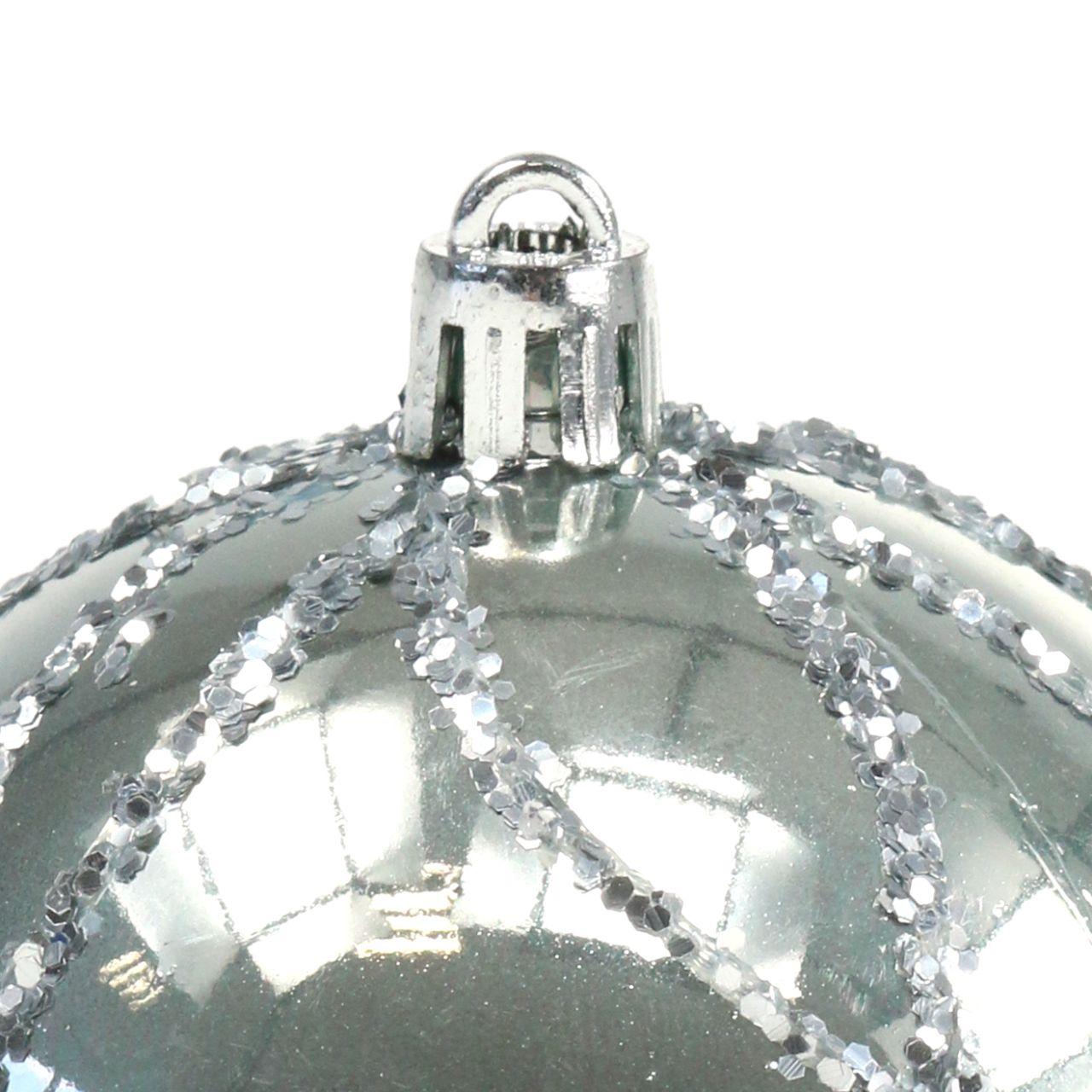 Julkula plast silver Ø8cm 2st