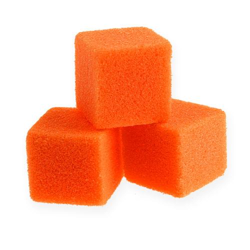 Våtskum mini-kub orange 300p